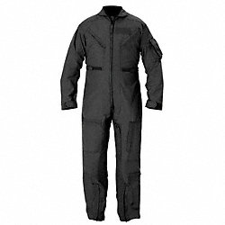 Coverall, Chest 47 to 48In., Black