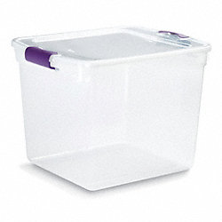 Storage Tote, Polypropylene, 31 Qt, Clear