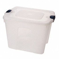 Storage Tote, Polypropylene, 22 Gal, Clear