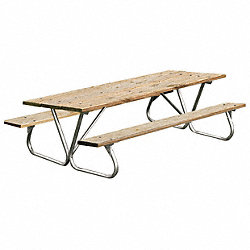 Picnic Table, Pressure Treated Wood, 96W