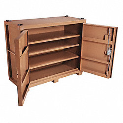 Jobsite Cabinet, 2-Door, 66 x30x54-1/2, Tan
