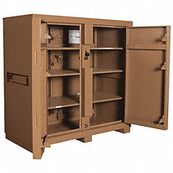 Jobsite Cabinet, 4-Door, 60 x30 x60 In, Tan