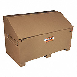 Jobsite Slope Lid Box, 60 x 30 x37 In, Tan