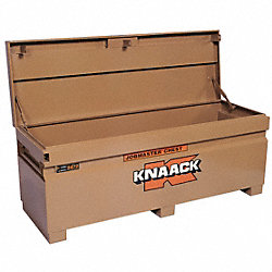 Jobsite Chest, 72 x 24 x 23 In, Steel, Tan