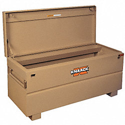Jobsite Chest, 60 x 24 x 23 In, Steel, Tan