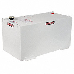 Transfer Tank, Steel, Rect., 100 gal., White
