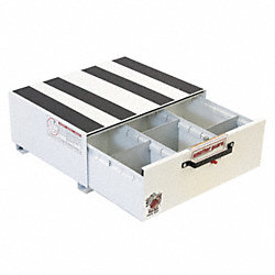 Truck Drawer, Steel, 24 x29-7/8x12-3/8, Wht