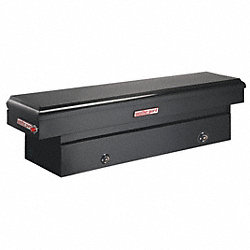 Truck Box, Steel, 71-3/8x27-1/4x17-7/8, Blk