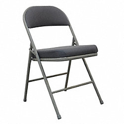 Folding Chair, Gray Fabric, Gray Frame