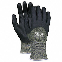 Cut Resistant Gloves, PVC, S, PR