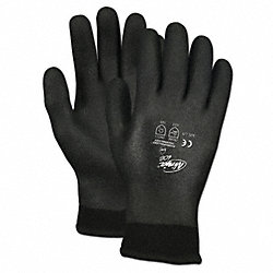 Coated Gloves, Black, L, PR