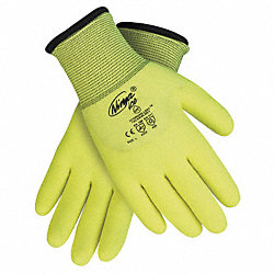 Coated Gloves, XL, Hi Vis Yellow, PR