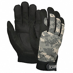 Mechanics Gloves, Camo/Black, 2XL, PR