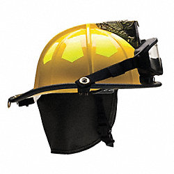 Fire Helmet, Yellow, Fiberglass