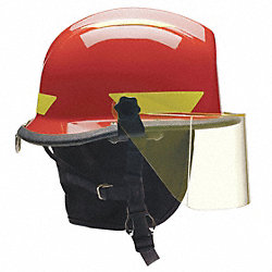 Fire/Rescue Helmet, Red, Thermoplastic