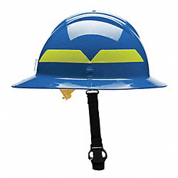 Fire Helmet, Blue, Thermoplastic