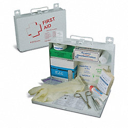 Econo First Aid Kit, No. 25, Steel, Logo