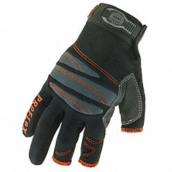Mechanics Gloves, Black, L, PR