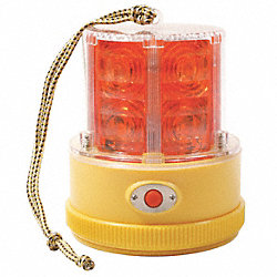 Warning Light, LED, Red, Mag, Rnd, 4-1/4 Dia
