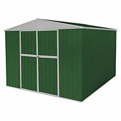 Storage Shed, A-Roof, 6ftx11ftx11ft, Green