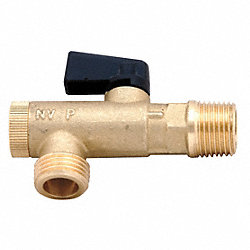 Filter Ball Valve, 1/2Inx3/8In NPT, 725psi