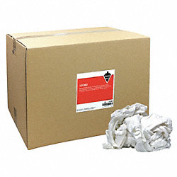 Cloth Rag, White, Knit Wipers, 50-lb Box