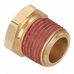 Bushing, 1/4 x 1/2 In, Brass
