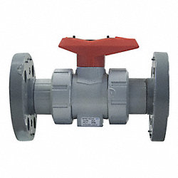 Ball Valve, 4 In, Flanged, EPDM, CPVC