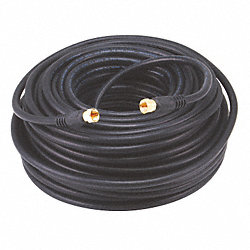 Video Cable, F Type, Coaxial, RG6, 100ft, Blk