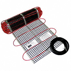 Electric Floor Heating Mat, 40 ft. L, 240V