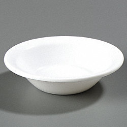 Rimmed Fruit Bowl, 5 oz., White, PK 48