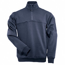 Job Shirt 1/4 Zip, Fire Navy, 2XL