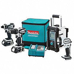 Cordless Combination Kit, 18.0V, 1.5A/hr.