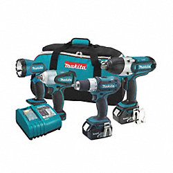Cordless Combination Kit, 3.0A/hr., Li-Ion