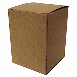 Mailing Carton, 3 In. L, Brown, PK 250