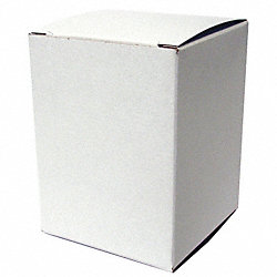 Mailing Carton, White, 4 In. D, PK 500