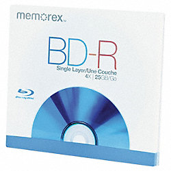 Blu-ray BD-R Disc, 25 GB, 4x