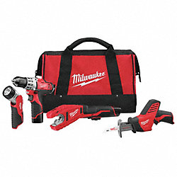 Cordless Combination Kit, 12.0V, 1.5A/hr.