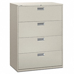 Lateral File, 42 In.W, Light Gray