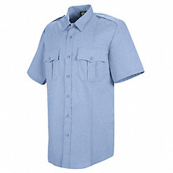 New Dimension Stretch Dress Shirt, M, Blue