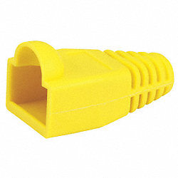 Relief Boot, RJ45, Yellow, PK 50