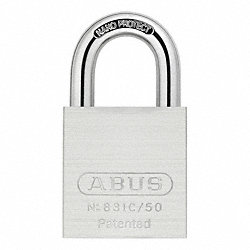 Keyed Padlock, Interchangaeble Core, Brass
