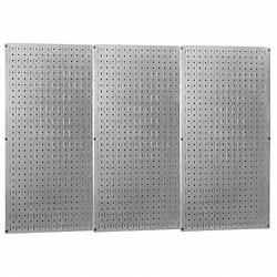 Pegboard Set, Steel, 32x48 In., Metallic