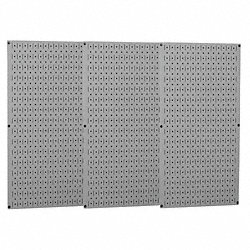 Pegboard Set, Steel, 32x48 In., Gray