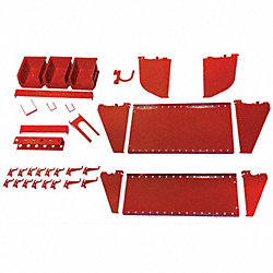Workstation Slotted Accessory Kit, Red