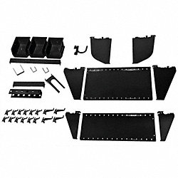 Workstation Slotted Accessory Kit, Black