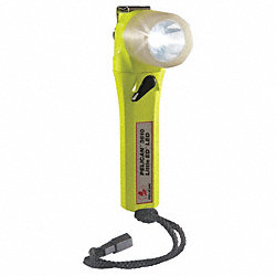 Flashlight, LED, 7 1/2 In, Yellow
