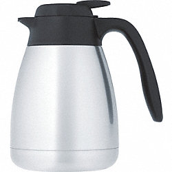 Vacuum Insulated Carafe, Lever Lid, 34 oz