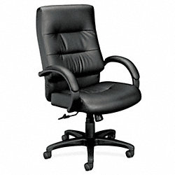Executive / Highback Chair, 250 lb., Black