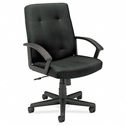 Managerial / Midback Chair, 250 lb., Black